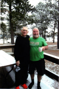 Darrell and Adrian on our last roundup Mystery Mountain, S.D., November 2017